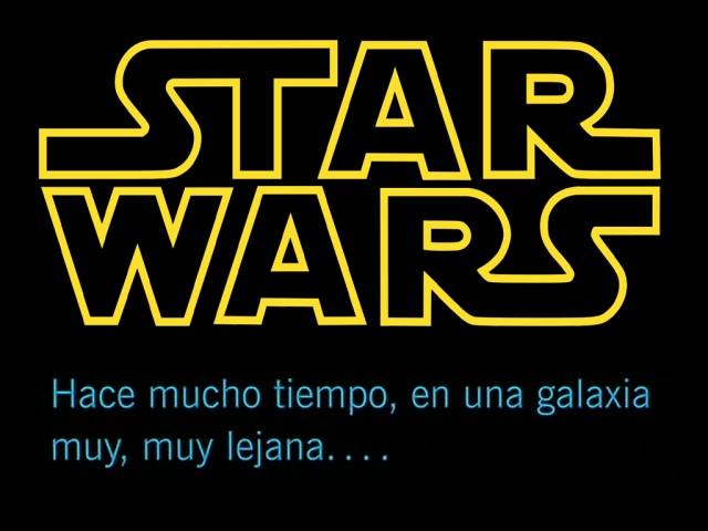Letrero Star Wars