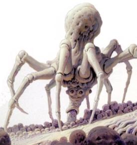 Araña de nudos blanca