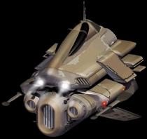 Bombardero droide E- STAP con escudos