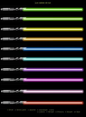 Colores sable de luz
