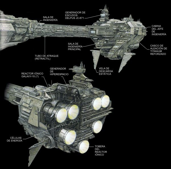 Sección trasera Nebulon-B