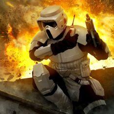 Comando de asalto soldado explorador